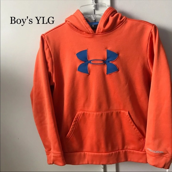 2001cd7611b3 UA under Armour Kids Pullover Hoodie YLG L Orange.  M 5ad3f32d31a37673a0e90a4b. Other Shirts   Tops ...